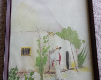 Signed Horatio Lankford King Mexican Travel Drawings