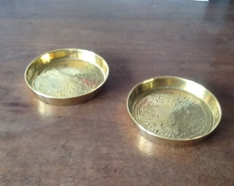 Pair indian Brass coasters