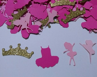 Royal Ballerina confetti with glitter,  baby shower , birthday ballets confetti CUSTOMIZE YOUR COLOR  200 pcs