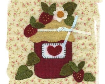 Strawberry Jam Wool Applique Pattern