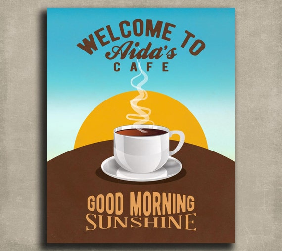Personalised Kitchen Signs: Personalized Coffee Sign 8x10 Tin Sign Gift Kitchen Sign Good