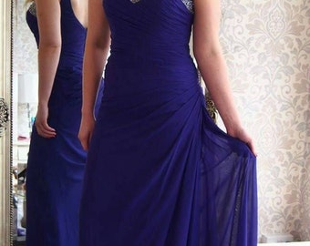 Cadbury Purple Bridesmaid dress available in any colour .Made to measure .
