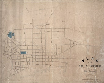 1850 Map of Burlington Vermont