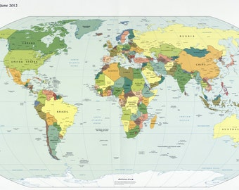 2012 Political Map of the World