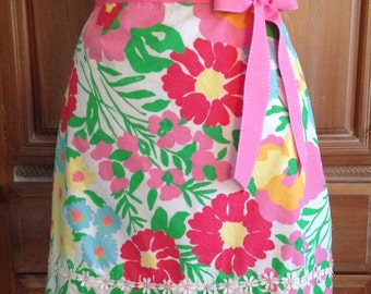 Woman's Hostess Apron made from Lilly Pulitzer Fabric
