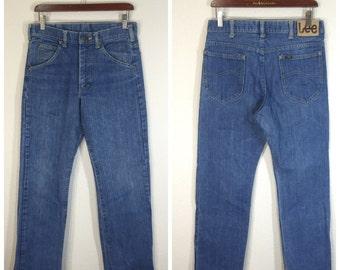 70's Lee jeans denim pants boot cut flare pants zipper fly