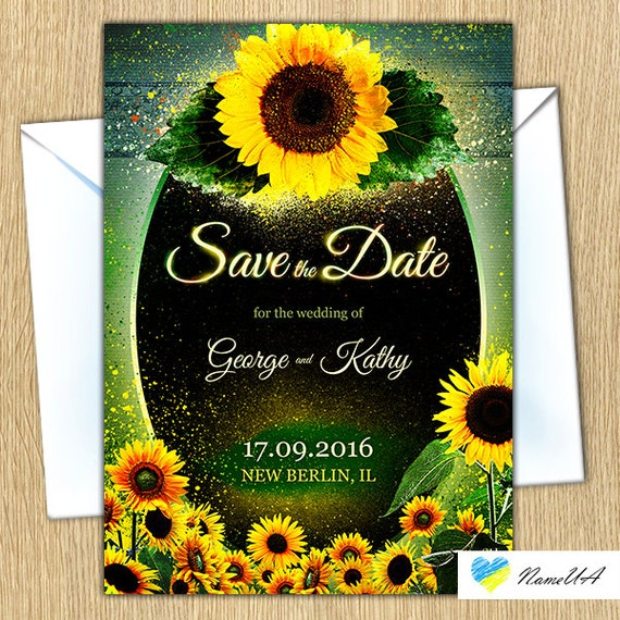 Sunflower Wedding Invitations Kits with perfect invitation template