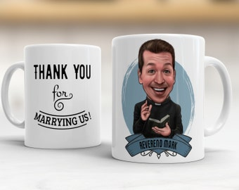 Priest Gift,  Officiant Gift, Gift for Officiant, Gift for priest, Pastor Gift, Gift for Pastore, Minister Gift, Personalized Caricature Mug