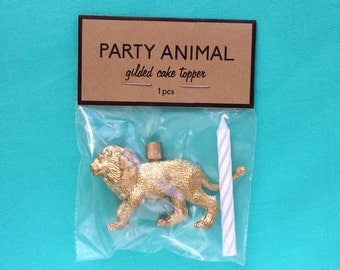 Party Animal Cake Topper (multiple animal types available)