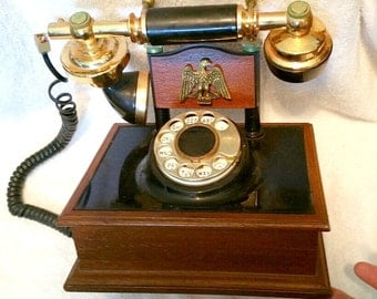 Vintage Deco-Tel 1970's Western Electric French Style Rotary Dial Landline Telephone Victorian