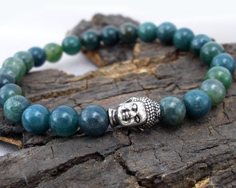Buddha bracelet and MOSS agate
