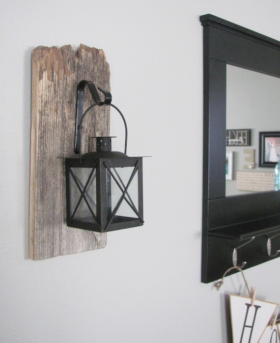 Barnwood Hanging Lantern Rustic wall decor hanging light