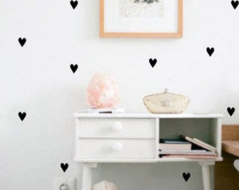 Wall stickers heart, color schemes, 72 PCs