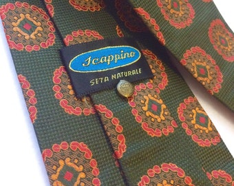 Vintage wide tie Scappino 100% silk 50's