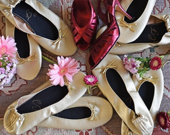 50 Monogrammed Pleather Flats in a Variety of Colors