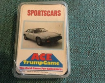 Vintage sports cars ace trump game made in western Germany