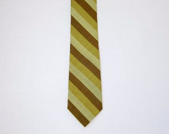1960s Striped Silk Necktie