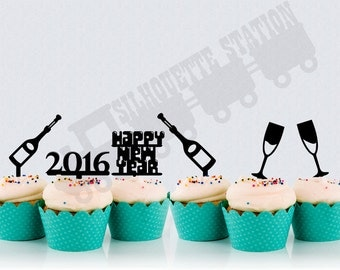 New years Eve Cupcake Toppers