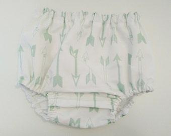 Culotte Flechas Mint-Cubrepañal bebé - Diaper cover - Bloomers
