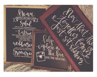 Wedding Chalkboard / Menu Chalkboard / Welcome Chalkboard / Custom Chalkboard