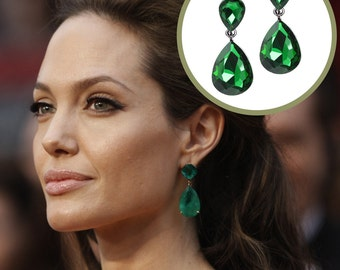 Beautiful Tear Drop Earrings as seen on Angelina Jolie