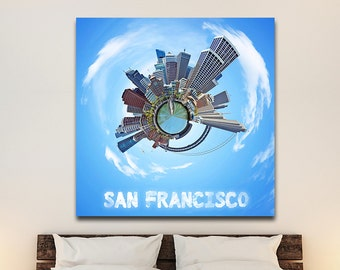 San Francisco City Planets Canvas Print
