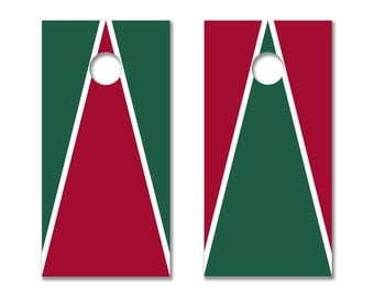 Cornhole Board Decals with Stanford Cardinal Colors (Red and Green)