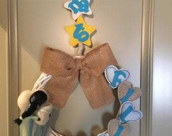 Birth-Birth Garland wreath
