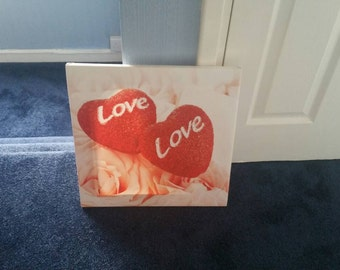 Hearts Love Canvas
