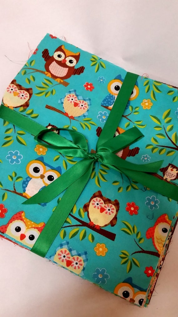 Layer Cake Quilt Fabric : Quilt Fabric OWLS Layer Cake Pack Cute Creature Quilting