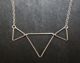 Necklace 3 triangles pendant