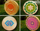 Chakra healing drum, traditional Native American style hand frame pow wow healing shaman meditation spirit rawhide drum and drumstick beater
