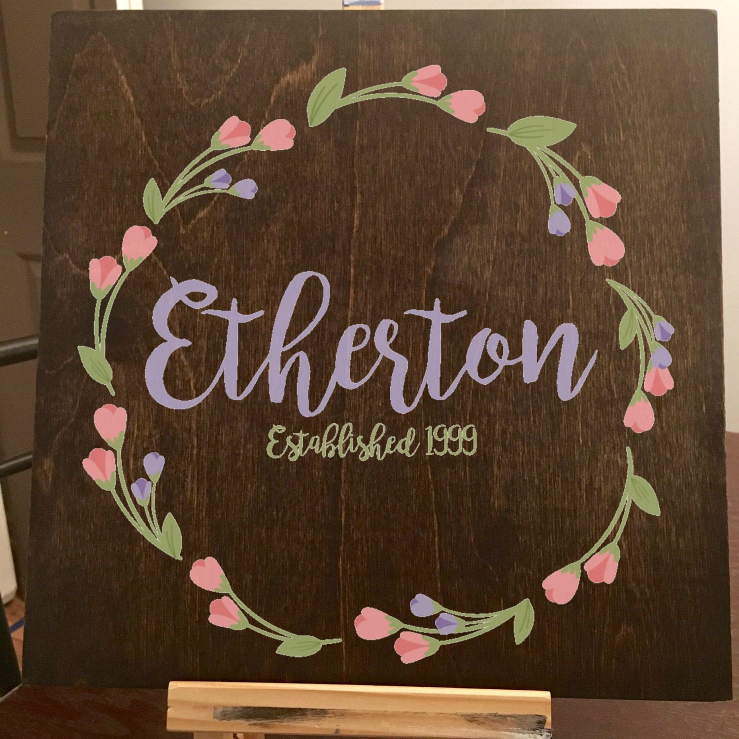 Personalized Last Name Rustic Home Decor Sign by