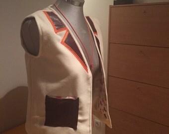 Unisex child oversize wool vest