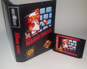 Mario Brothers on Sega Genesis with case