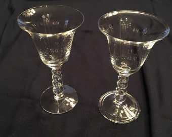 Vintage Imperial Glass Company Candlewick Wine Glasses