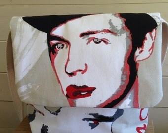 Shoulder bag in contemporary  fabric