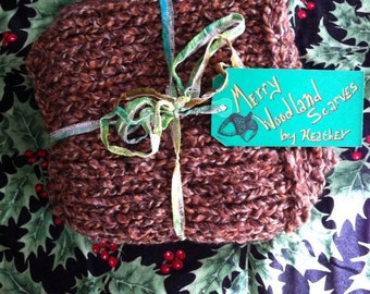 Woodsy Brown Loop Scarf
