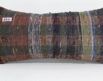 12x24 Lumbar Pillow 12x24 Colorful Kilim Lumbar Pillow Decorative Throw  Pillow Sofa Pillow Couch Pillow Turkish Pillow SP3060-224