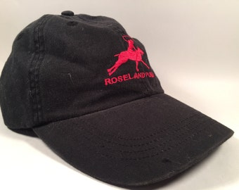 "90s Dad Hat ""Roseland Polo"" - Black"