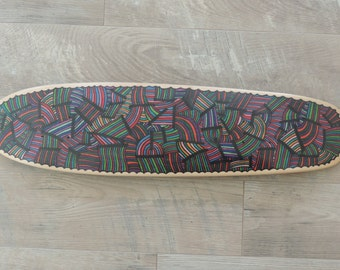 "Skateboard Deck Art ""Road Map of jupiter"""