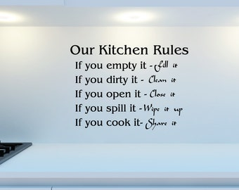 Our Kitchen Rules Home Wall Decal Sticker VC0165