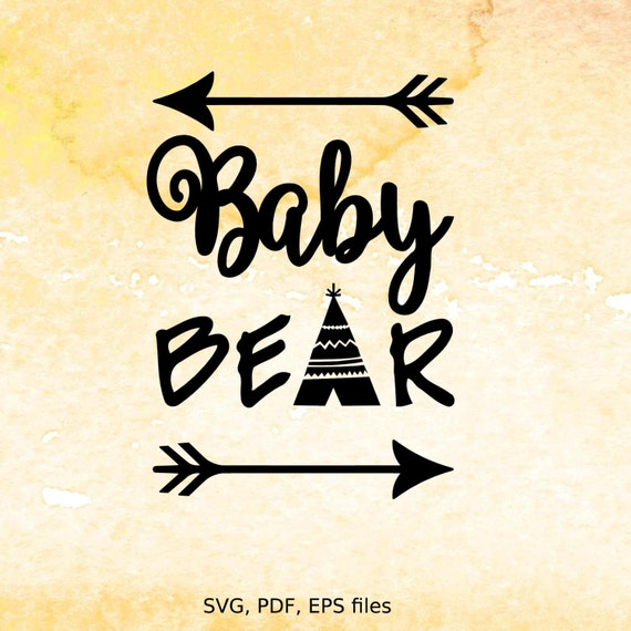 Baby Bear svg digital design cutting files for Cricut Cameo