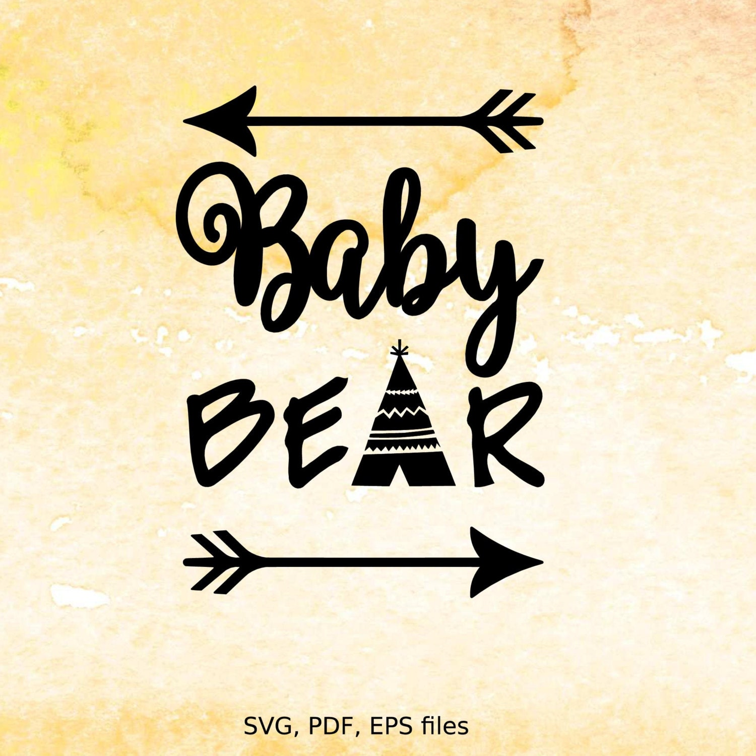 Baby Bear Svg Digital Design Cutting Files For Cricut