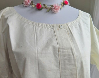 Hemp Linen Dress from french - simple white Linen Nightgown