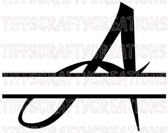 Svg fonts for cricut cricut cut files cricut font svg monogram font svg letters split letter fonts for cricut split monogram vinyl files