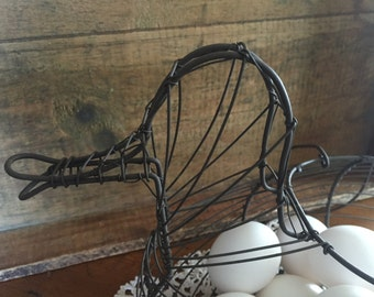Vintage Duck Wire Egg basket