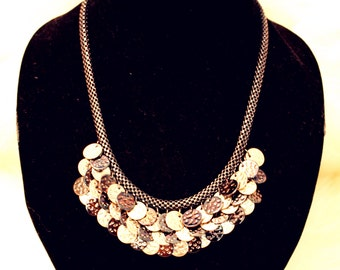 Lush Disc Cluster Bib Necklace