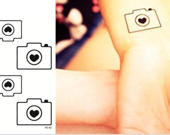 Camera temporary tattoo