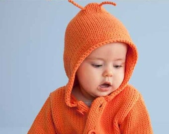 Baby jacket with hood, baby sweater, little gem sweater jacket / Cardigan / coat of Alpaca